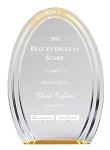 Double Halo Oval Acrylic Award  8