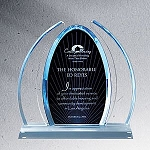 Enterprise Large Blue Dynasty Acrylic Award - 10