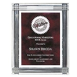 Diamond Carved Acrylic Recognition Plaque 9