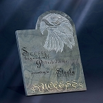 Slate Marble Award Plaque with Eagle - 9