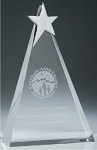 P53626 Top Star Triangle Crystal Award - CIP