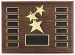 Walnut Finish Constellation Recognition Plaque 12