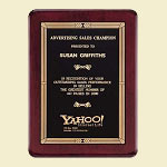 Southwest Board Design Piano Finish Award Plaque 8