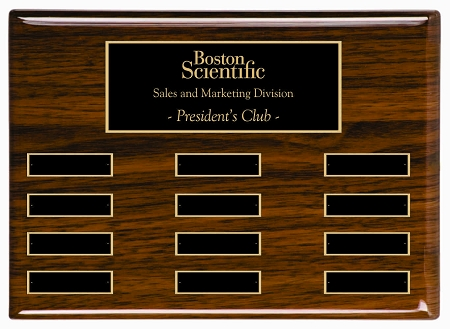 employee of the month plaques with picture  9 x 12 High Gloss Walnut Finish Employee of the Month Plaque
