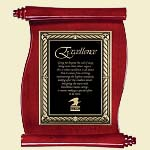 Scroll Piano Finish Award Plaque 10.5