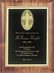 Rolled Edge Walnut Religious Award Plaque 9