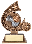 Star Resin Cheer Trophy 804 - 5.75