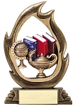 Flame Resin Knowledge Trophy