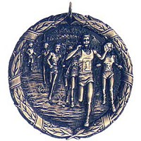 "2"" Cross Country Medal"