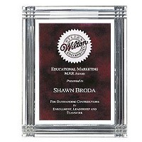 "Diamond Carved Acrylic Recognition Plaque 9""x12"""