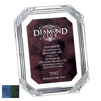 "Diamond Carved  Octagon Plaque -10.5""x13"""