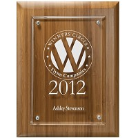 Bamboo Acrylic Recognition Plaque