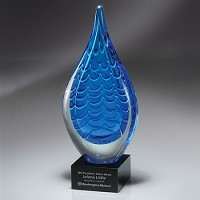 GM435C Indigo Stream Art Glass