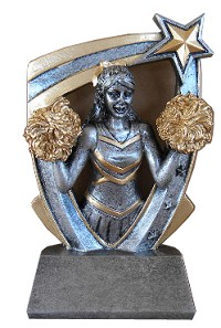 Star Resin Cheerleader Trophy - 6'