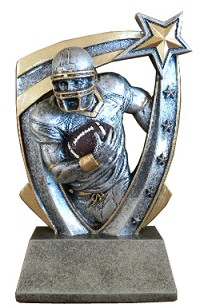Cont. Resin Football Trophy - 6""