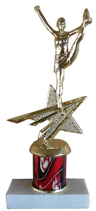 Star Cheerleader Trophy - 9""
