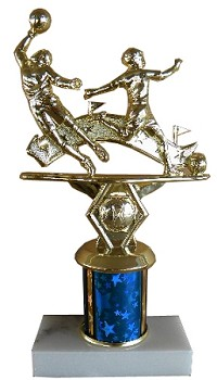 Double Action Allstar Soccer Trophy - 9""