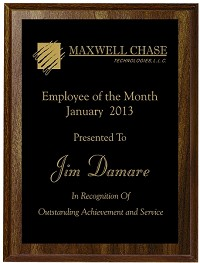 5 x 7 Engraved Employee of the Month Plaque