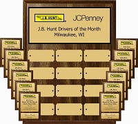 "9""x12"" Full Color Employee of the Month Plaque  Program with 5""x7"" Individual Plaques"