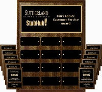 9x12 Employee Plaque Program With Black Brass