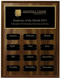"9""x12""  Employee of the Month Plaque"