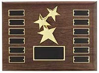 "Walnut Finish Constellation Recognition Plaque 12""x15"" - 12 Plates"