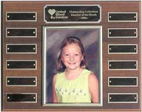 "12""x15"" Employee of the Month Photo Plaque - 7008"