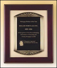 "Piano Framed  Recognition Plaque with Metal Casting 14""x17"""