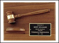 "Gavel Recognition Award Plaque - 9""x12"""