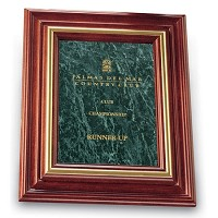 "Large Cherry Marble Recognition Plaque 13""x16"""