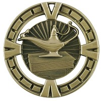 "2.5"" BG Lamp of Knowledge Medal"