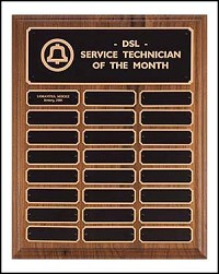 "Perpetual Recognition Plaque 12""x15"" - 24 Plates"