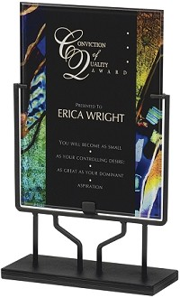 Acrylic Art Plaque  PLX802HC With Iron Stand - 15""