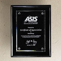 "Black Piano Finish Acrylic Recognition Plaque - 9""x12"""
