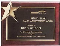 "Piano Finish Star Recognition Plaque 9""x12"""