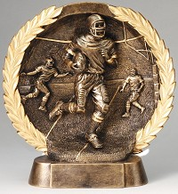 Resin Plate Football Trophy 603 - 7""