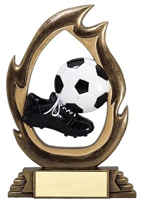 Flame Resin Soccer Trophy 502 - 7.5""
